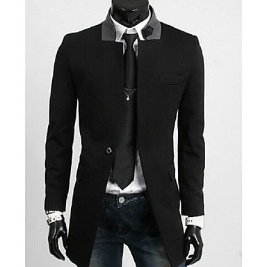 Men's Fashion Personality Neckline Overcoat