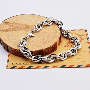 Fashion Men's Silver Multi-layer Stainless Steel Chain Bracelets