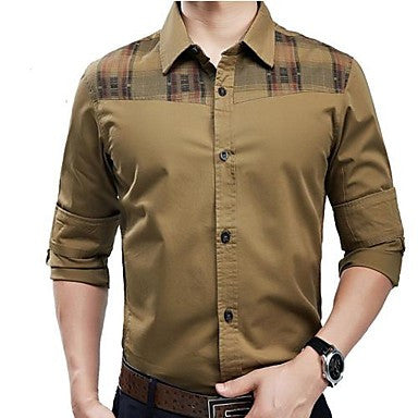 Men's Cultivate One's Morality Leisure Long-sleeved Shirts