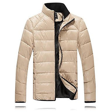 Men's Winter Fashion Large Size Padded Collar Jacket