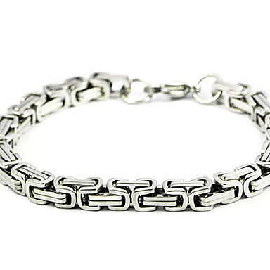Korea Style Rough 20cm WoMen's Silver Titanium Steel Tennis Bracelet(1 Pc)