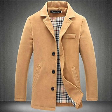 Men's Casual Large Size Double Breasted Trench Coat Outerwear