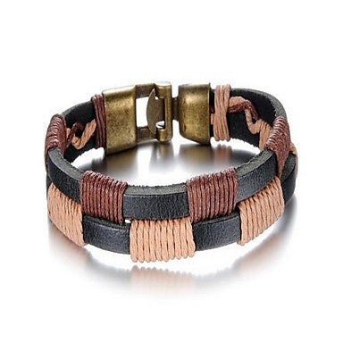 Fashion Men's Alloy Leather Bracelet(1 Pc)