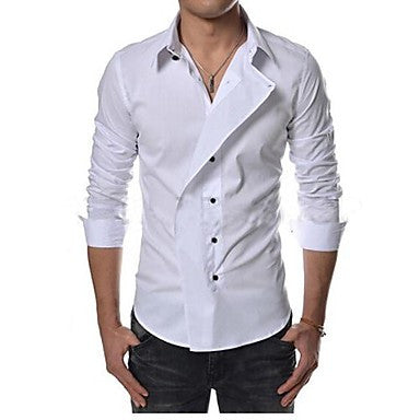 Men's Pure Color Fashion Shirt