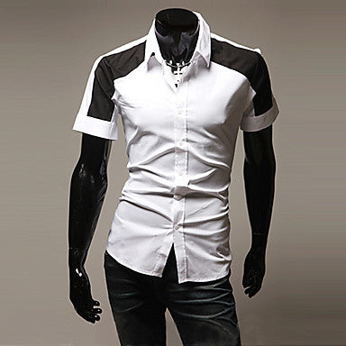 Men's Contrast Color Fashion Shirt