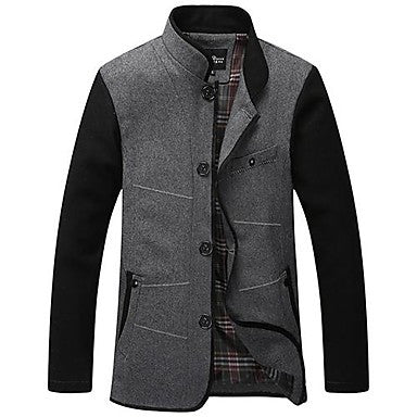 Men¡¯s Stand Collar Casual Worsted Suit