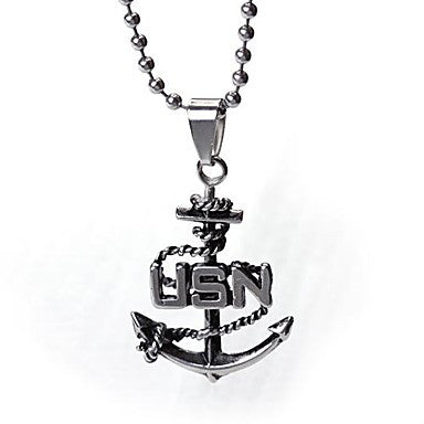 Mumar Classic Personalized Stainless Steel Jewelry Pendant Necklace with 60 cm Chain