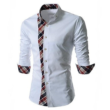 Men's Korean Fashion Lace Long Sleeved Shirt