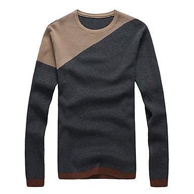 Men's Wave Point Lines Sweater