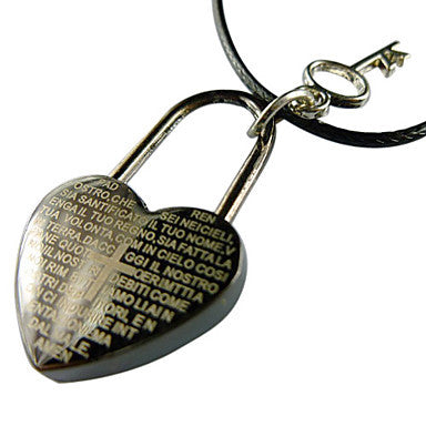 Heart Shape Scripture Inscribed Necklace