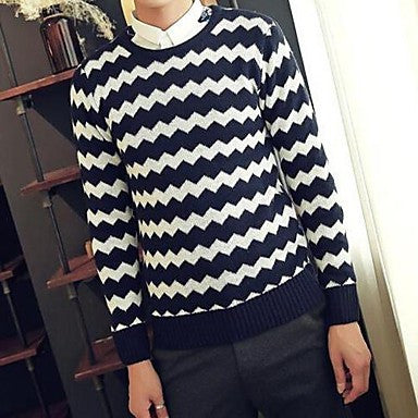 Men's Winter new products hit the color moire - knitted Pullover Sweater
