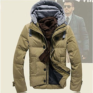 Men's Fashion Thicken Warm Hooded Down Coat