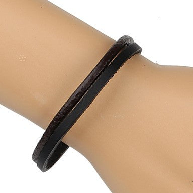 Fashion Braided Bracelet Simple and Comfortable Black Brown (1 Piece)