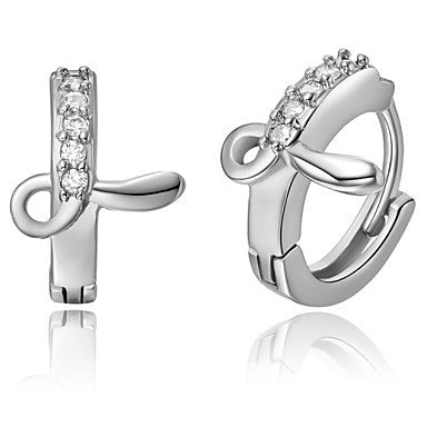 "Gifr for Boyfriend High Quality Silver Plated Letter ""L"" Men's Stud Earrings(1 pr)"