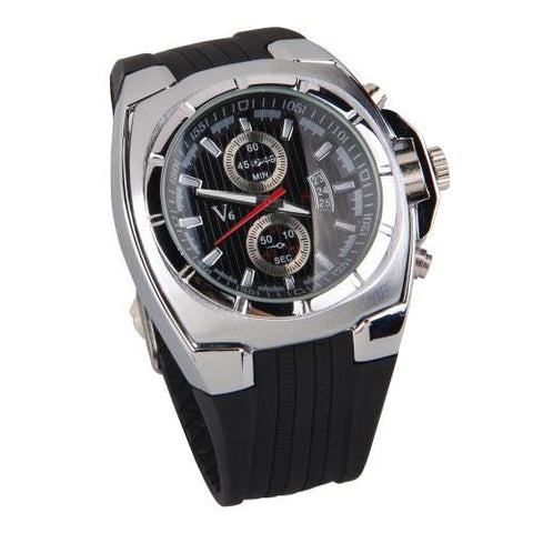 Unisex Quartz Movement Sports Rubber Band Wristwatch Wrist Watch Waterproof