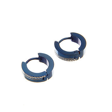 Fashion Blue Circle Alloy Stud Earring(1 Pair)