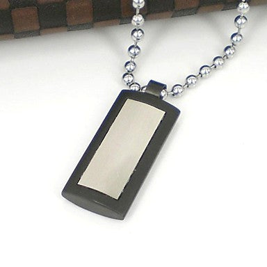 Heath Carring Men's 316L Stainless Steel Pendant Necklace