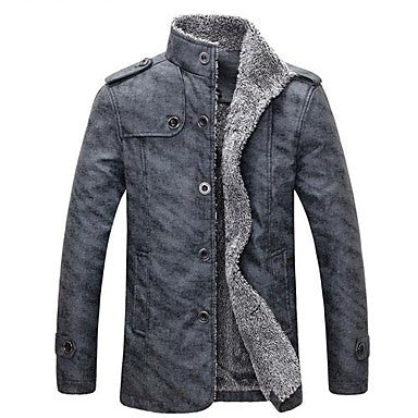 Men's Pure Color Cloth Coat