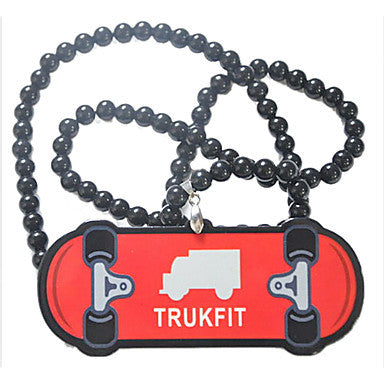 Fashion Nice Hip Hop Trukfit Scooter Pendant Black Acrylic Pendant Necklace(1 Pc)