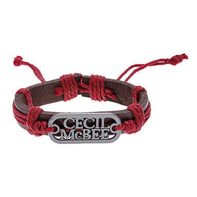 Unisex CECIL McBEE Fabric Leather Bracelet(Random Color)