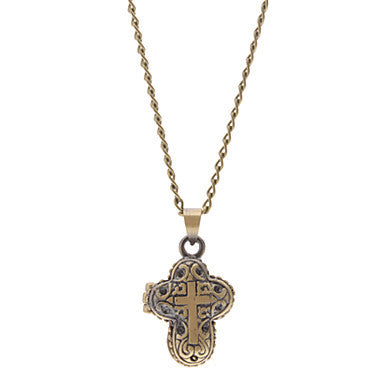 Magic Cross Box Necklace