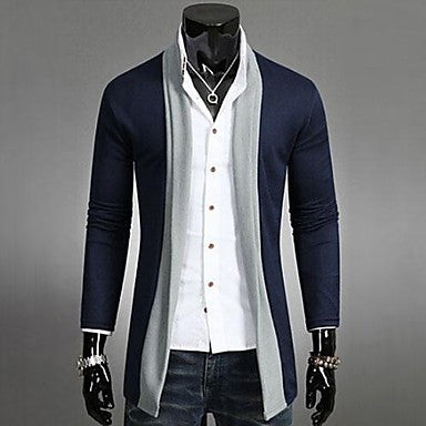 Men's Autumn and Winter Knitting Cardigan Thin Coat