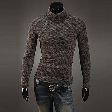 Men's High Collar Slim Sweaters