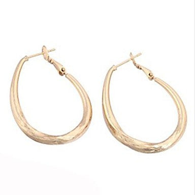 Fashion Classic (Geometry) Yellow Gold-Plated Zircon Earrings, (1 Pair)
