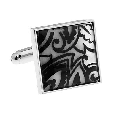 Men's Alloy Square Vintage Pattern Cufflink(1 pair)