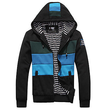 Men's Block Warm Hoodies Jacket