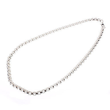 Fashion Jewelry Box Silver Clasp Male Necklace