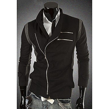 Men's Stylish Contrast Color Splicing Jacket