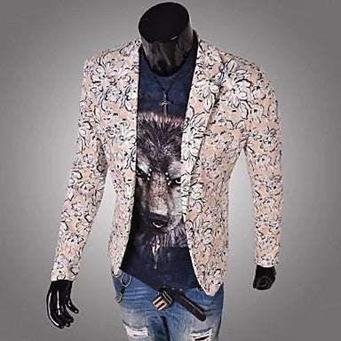 Men¡¯s Slim Wet Person Print Suit A