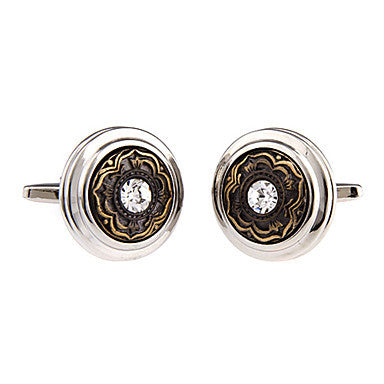 Men's Flower Round Cufflinks(2 PCS)
