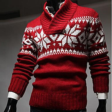 Men's Turtle Neck Casual Snow Sweater