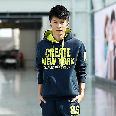 Men's Fashion Leisure Sports Fleece Suits