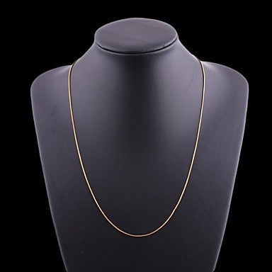 Figaro Chain 60cm Men Golden Gold Plated Chain Necklaces(1mm Width)