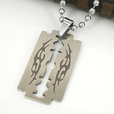 Men's Blade Shape 316L Stainless Steel Pendant Necklace