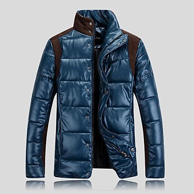Men's 2014 New Fashion Stand Collar Long Sleeve Windproof Pure Down Jacket.