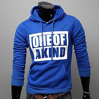 Men's Printed Letters Hooded Fleece Sweatshirt