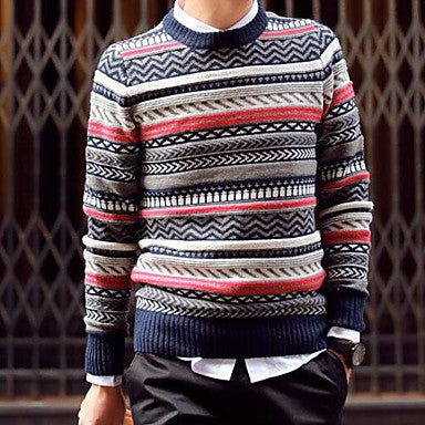 Men's New Japanese Folk Style Leisure Crewneck Sweater Sweater