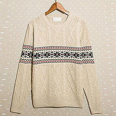 Men's New Japanese Retro Snow Your Leisure Crewneck Sweater