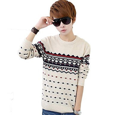 Men's Polka Dots Coat Sweater