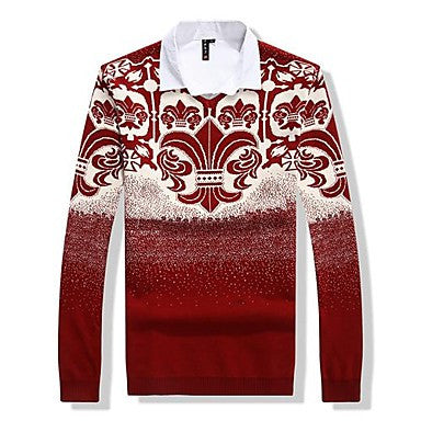 Men's V Neck Fashion Knitwear Pullover