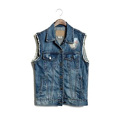 Men's Casual Denim Jacket Vest