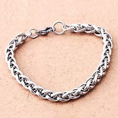 Individual Ear Of Wheat 20cm WoMen's Silver Titanium Steel Tennis Bracelet(1 Pc)