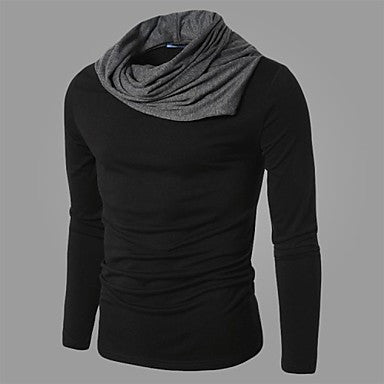 Men's Slim Casual Contrast color Long Sleeved T-Shirts