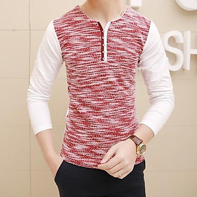 Men's Fashion V Collar Bottoming Shirt