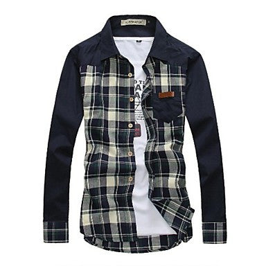 Men's Casual Lapel Slim Shirt