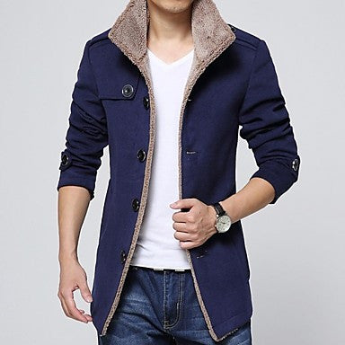 Men's Single Breasted Woolen Coat